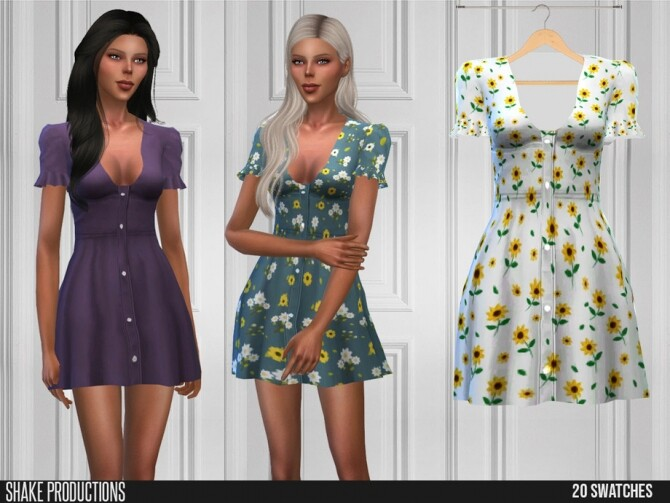 Sims 4 551 Dress by ShakeProductions at TSR