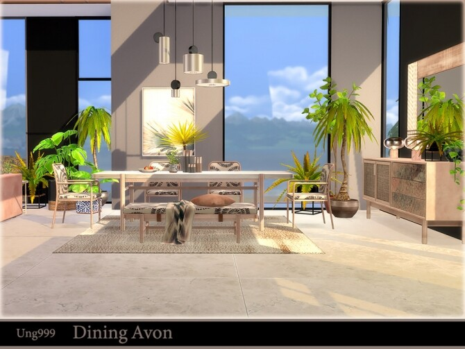 Dining Avon by ung999 at TSR image 664 670x503 Sims 4 Updates