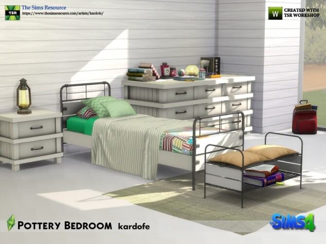 Pottery Bedroom by kardofe at TSR image 665 670x503 Sims 4 Updates