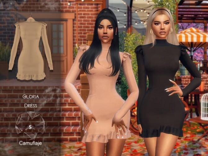 Sims 4 Gloria Dress by Camuflaje at TSR