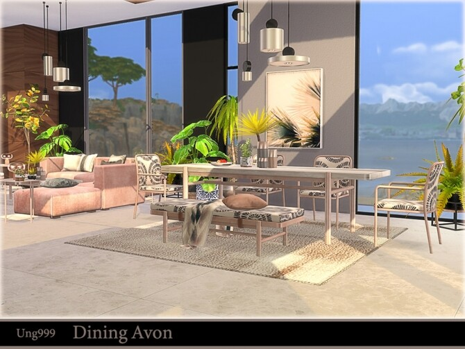 Sims 4 Dining Avon by ung999 at TSR