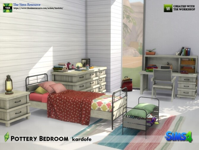 Pottery Bedroom by kardofe at TSR image 675 670x503 Sims 4 Updates