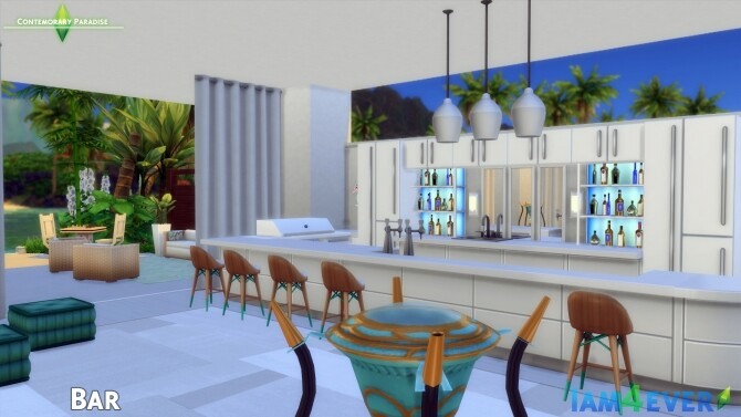 Contemporary Paradise House by Iam4ever at MTS image 68 670x377 Sims 4 Updates