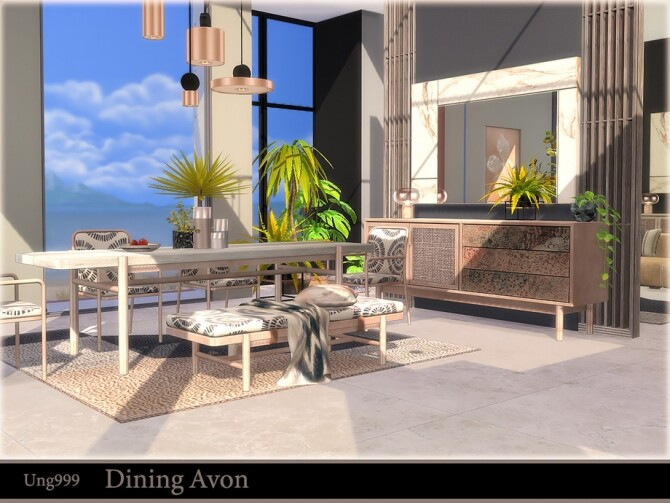 Dining Avon by ung999 at TSR image 683 670x503 Sims 4 Updates