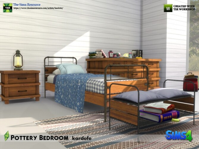 Pottery Bedroom by kardofe at TSR image 684 670x503 Sims 4 Updates