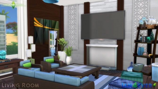 Contemporary Paradise House by Iam4ever at MTS image 69 670x377 Sims 4 Updates