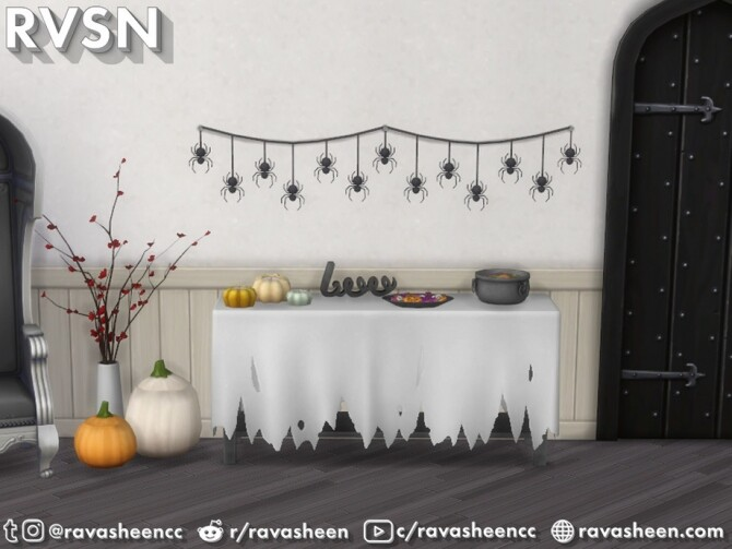 Sims 4 Creep It Real Halloween Decor by RAVASHEEN at TSR