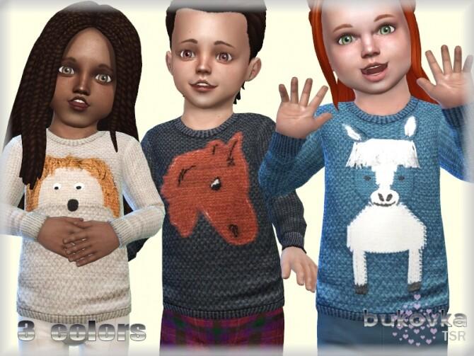 Sims 4 Sweater Animals by bukovka at TSR