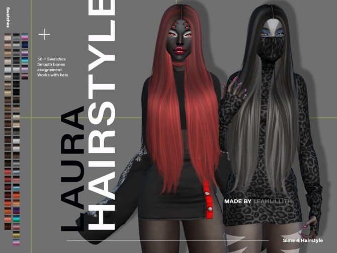 Sims 4 Laura Hairstyle by Leah Lillith at TSR