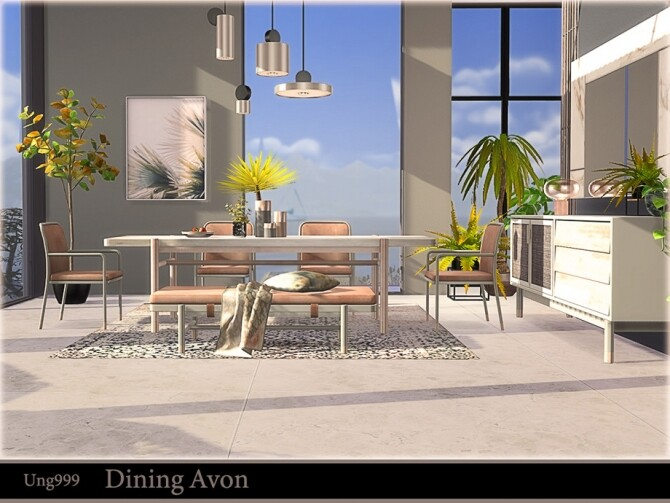 Dining Avon by ung999 at TSR image 693 670x503 Sims 4 Updates