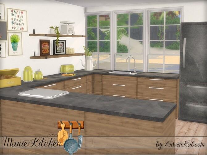 Marie Kitchen by ArwenKaboom at TSR image 699 670x503 Sims 4 Updates