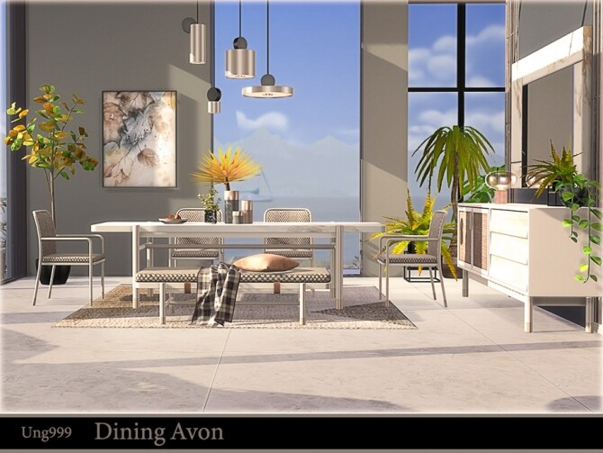 Dining Avon by ung999 at TSR image 703 670x503 Sims 4 Updates