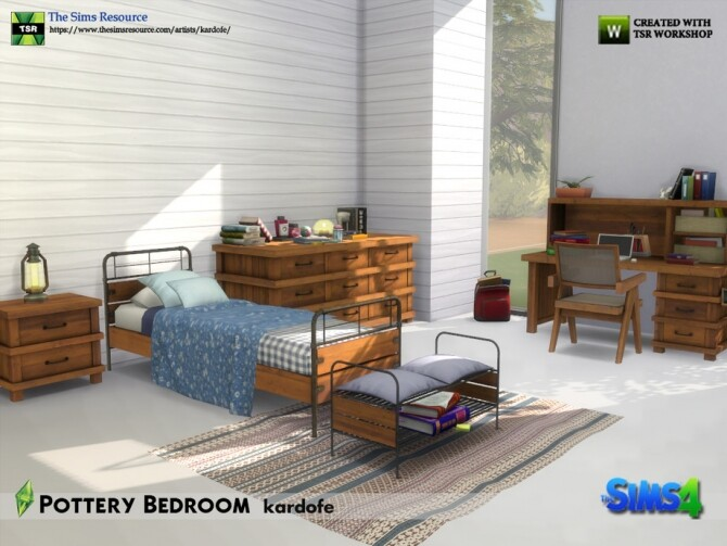 Pottery Bedroom by kardofe at TSR image 704 670x503 Sims 4 Updates