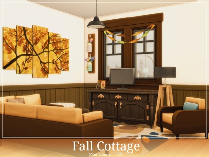 Sims 4 Fall Cottage by Mini Simmer at TSR
