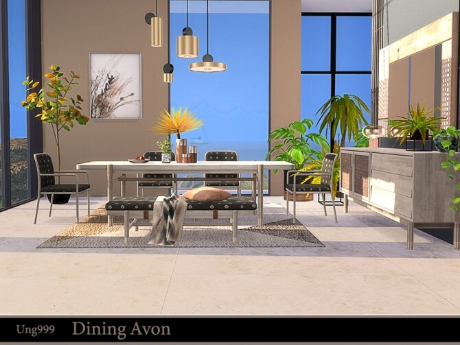 Dining Avon by ung999 at TSR image 716 670x503 Sims 4 Updates