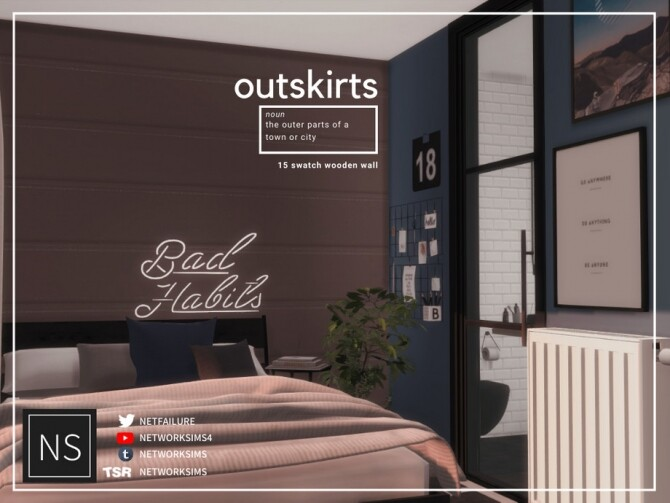 Sims 4 Outskirts Wooden Walls by Networksims at TSR