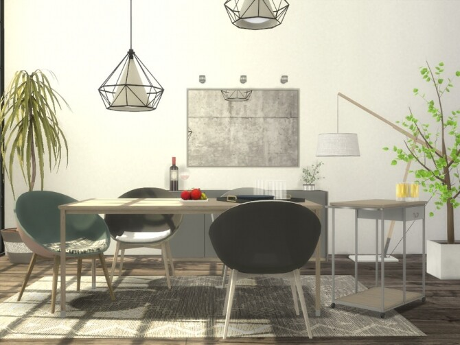 Loren Dining Room by Onyxium at TSR image 721 670x503 Sims 4 Updates