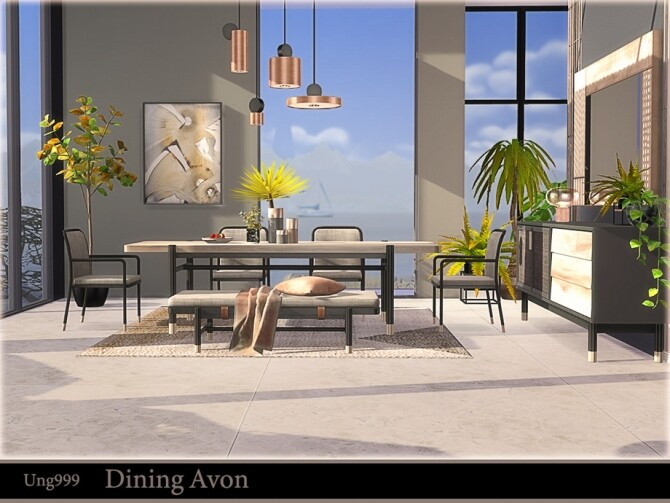 Dining Avon by ung999 at TSR image 724 670x503 Sims 4 Updates