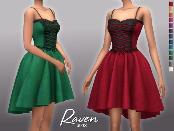 Sims 4 Raven Dress by Sifix at TSR