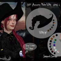 DSF Accessories Noctem Witch Created By  DanSimsFantasy