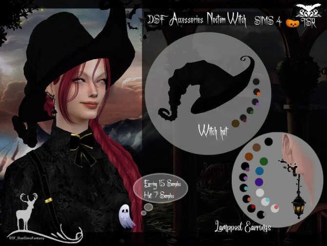 Sims 4 DSF Accessories Noctem Witch by DanSimsFantasy at TSR