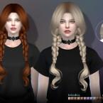 Curly double braids hair n63 by S-Club LL