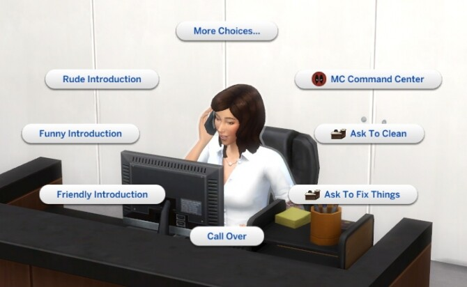 Sims 4 Front Desk Staff Mod by lemonshushu at Mod The Sims