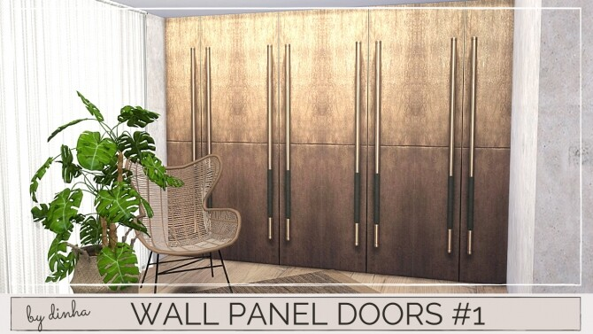 Sims 4 Wall Panel Doors #1   5 Swatches at Dinha Gamer