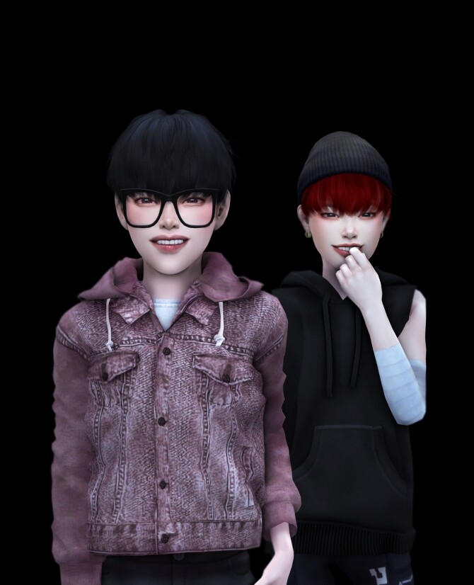 Sims 4 Monster LOEY hair KIDS ver. at SNOOPY