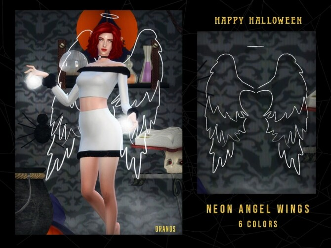 Sims 4 Neon Angel Wings by OranosTR at TSR