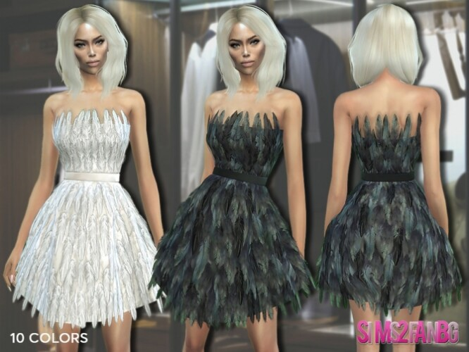 307 Feather Dress by sims2fanbg