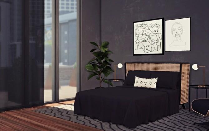Sims 4 Waska Bed Set at Sooky