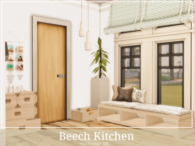 Sims 4 Beech Kitchen by Mini Simmer at TSR