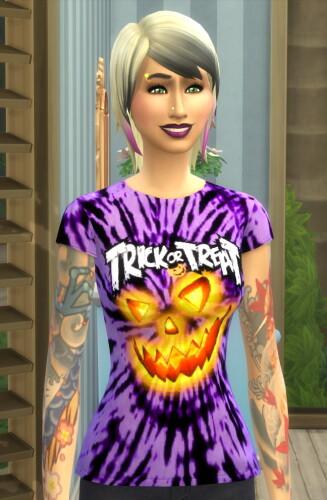Spooktacular Halloween Tie Dye Tee-Shirts by Wykkyd
