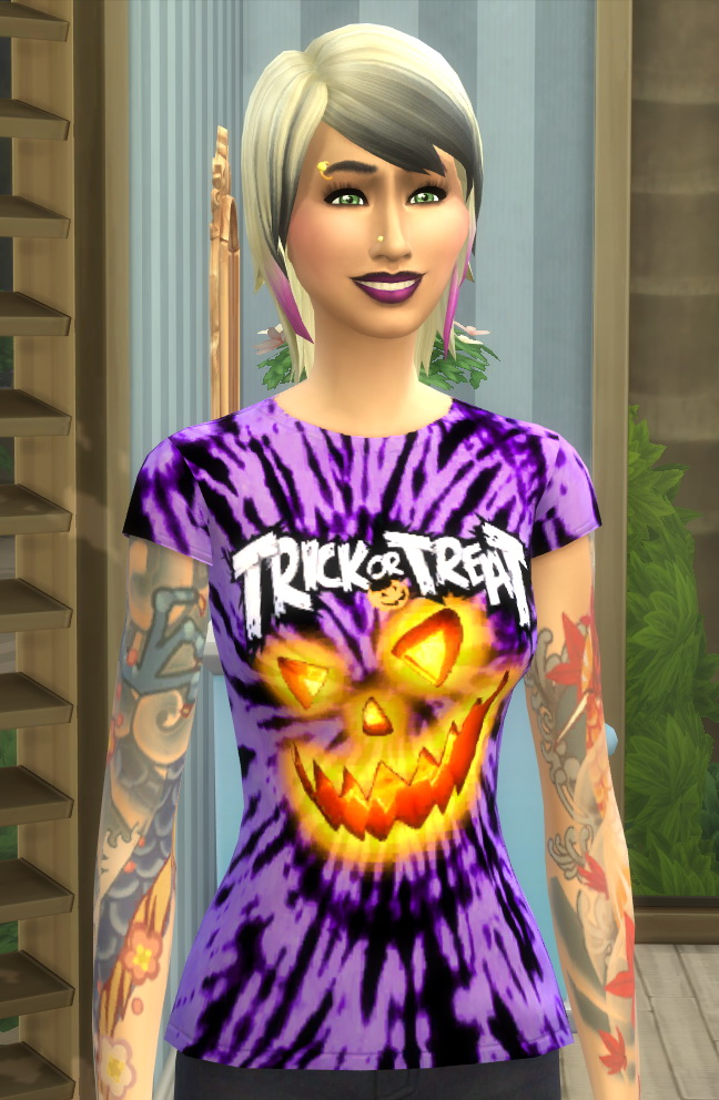 Sims 4 Spooktacular Halloween Tie Dye Tee Shirts by Wykkyd at Mod The Sims