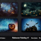 Halloween Painting 1 by SimsJohnSims