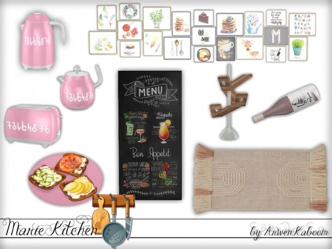 Marie Kitchen Decor by ArwenKaboom at TSR image 8010 670x503 Sims 4 Updates