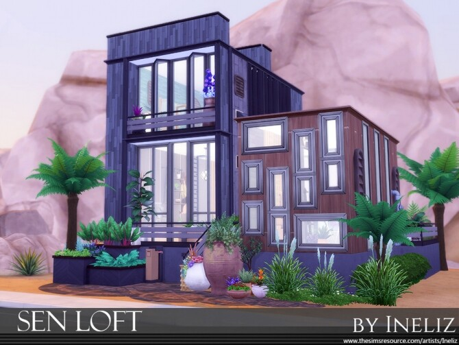 Sims 4 Sen Loft by Ineliz at TSR