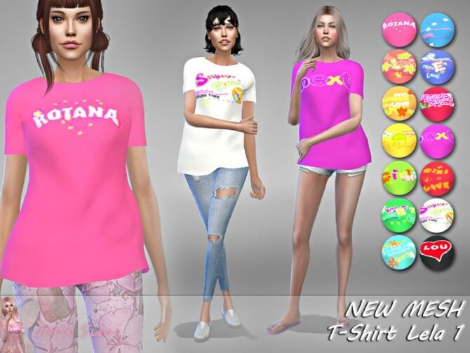 Sims 4 T Shirt Lela 1 by Jaru Sims at TSR