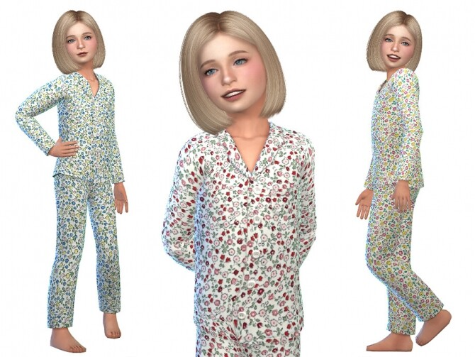 Sims 4 Pajama for Girls 06 by Little Things at TSR