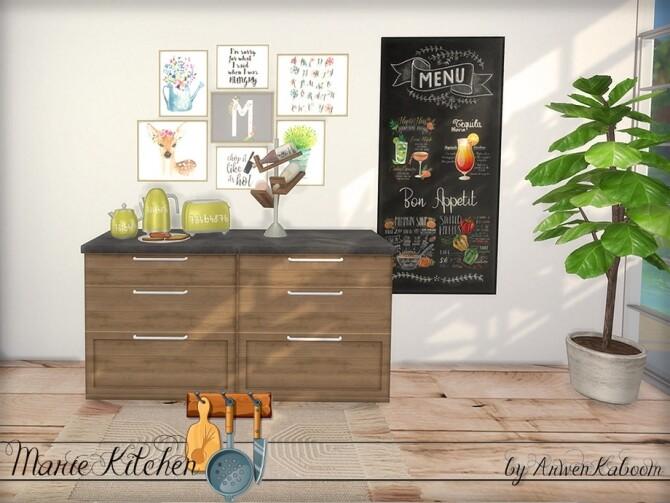 Marie Kitchen Decor by ArwenKaboom at TSR image 8114 670x503 Sims 4 Updates