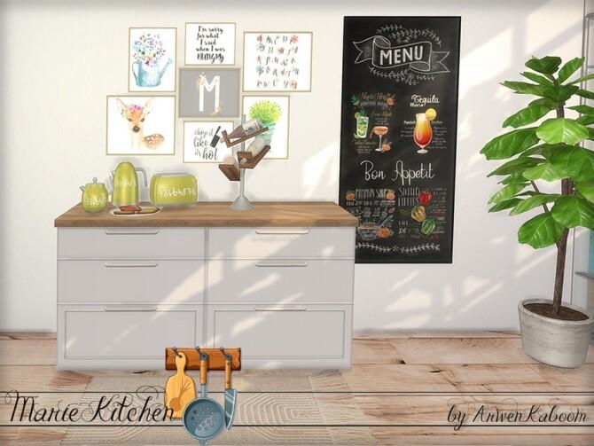 Sims 4 Marie Kitchen Decor by ArwenKaboom at TSR