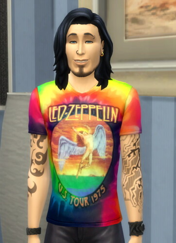 Led Zeppelin Homage Tie Dyed Tee by Wykkyd