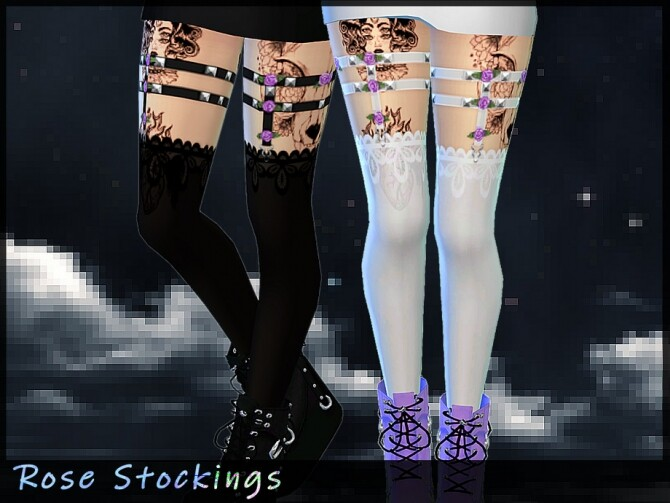 Sims 4 Rose Stockings by Saruin at TSR