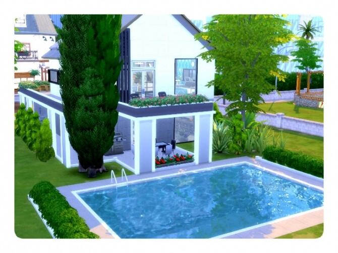 Sims 4 Blue Bird Home by GenkaiHaretsu at TSR