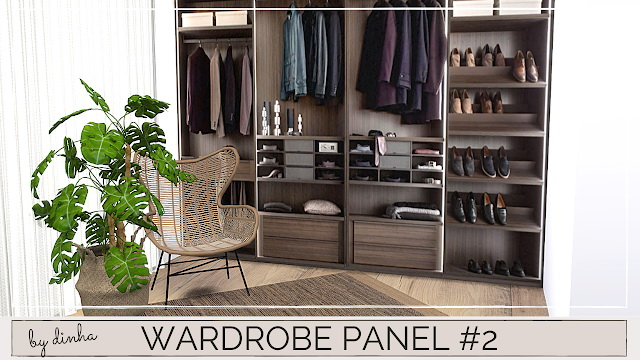 Wardrobe Panels Mural at Dinha Gamer image 855 Sims 4 Updates