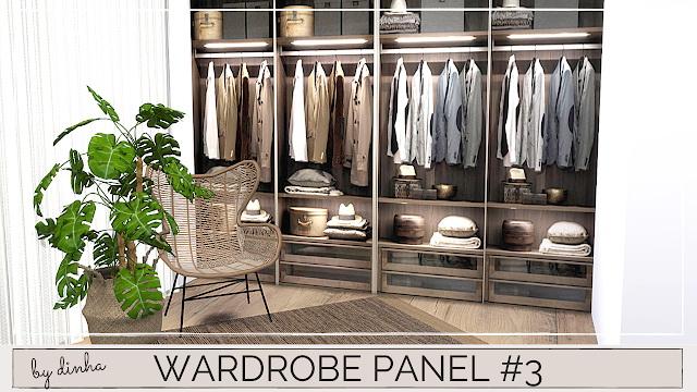 Wardrobe Panels Mural at Dinha Gamer image 865 Sims 4 Updates