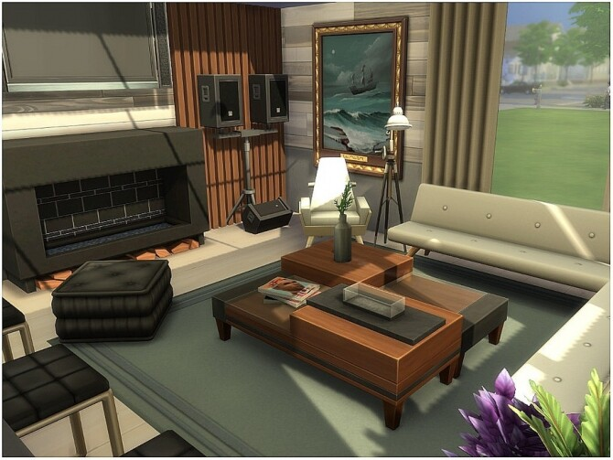 Sims 4 Modern Style Home by lotsbymanal at TSR
