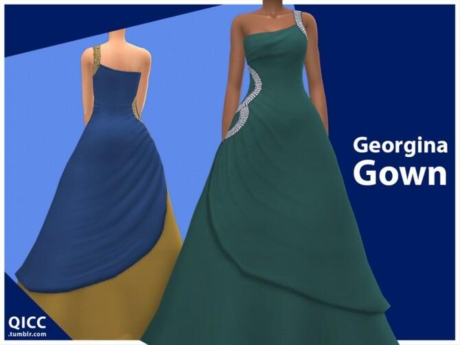 Sims 4 Georgina Gown by qicc at TSR