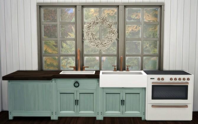 Sims 4 Farmhouse Charm Kitchen at Sooky